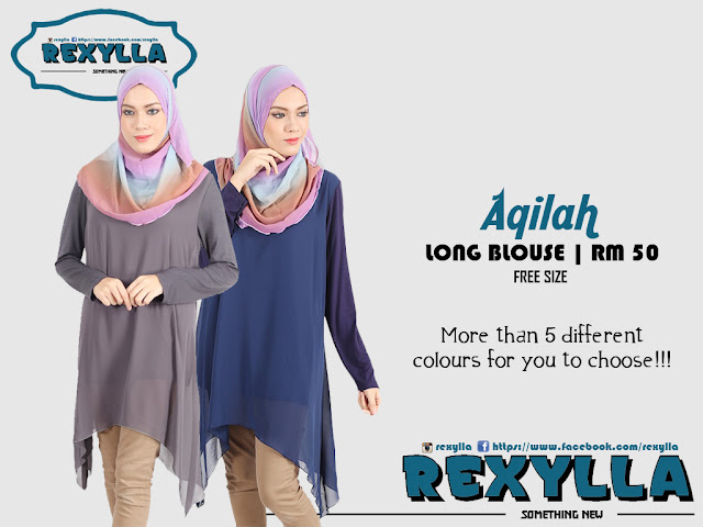 rexylla, long blouse, aqilah collection