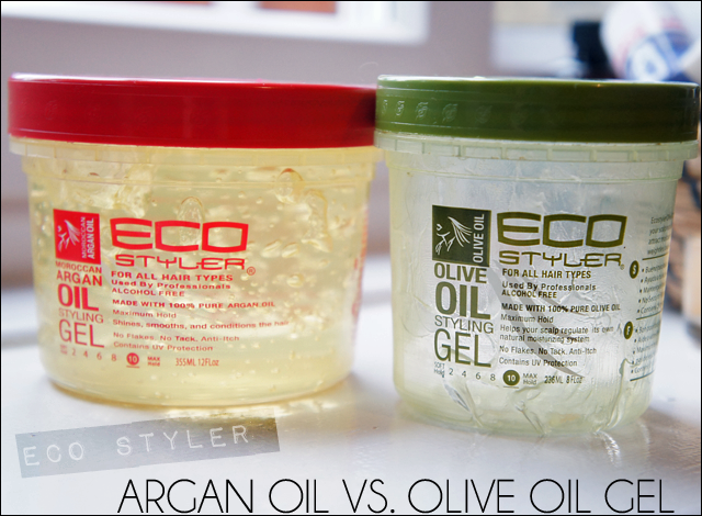 Ecoco Inc Olive Oil Eco Styler Gel Vs. Argan Oil Eco Styler Gel, Comparison & Review