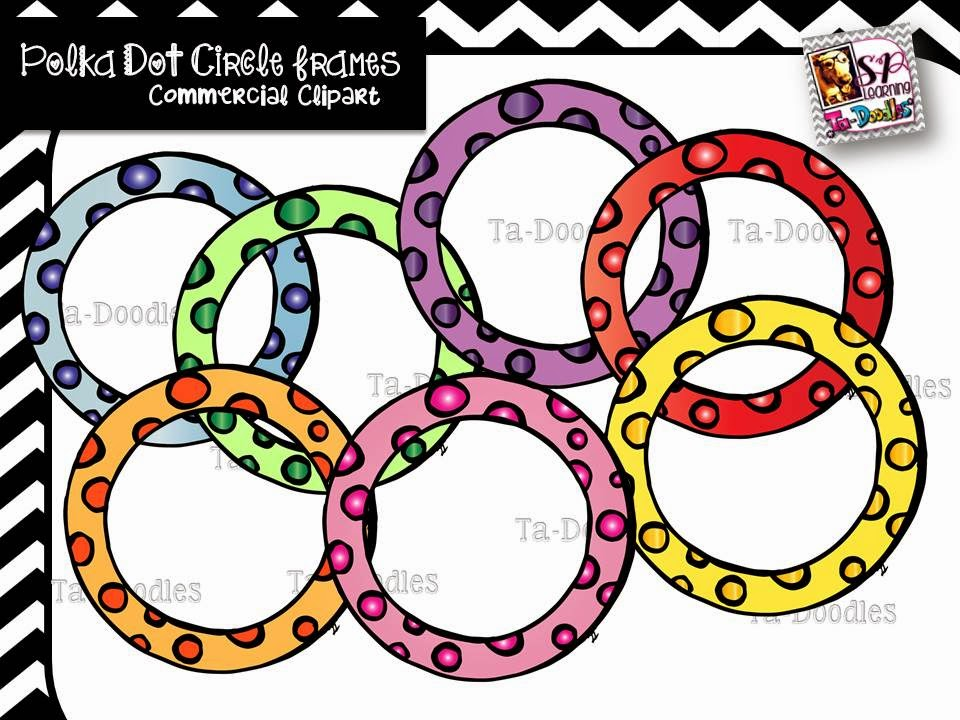http://www.teacherspayteachers.com/Product/Round-Polka-Dot-Frames-1449664