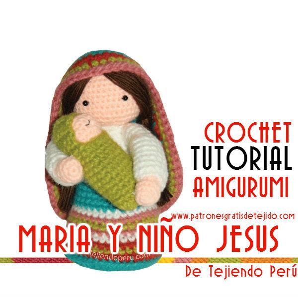 preparando el pesebre para Navidad con crochet
