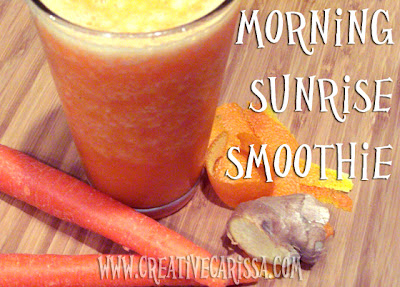 smoothie, ginger, carrot, orange, breakfast, recipe