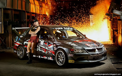 coches-mujeres-carreras-mitsubishi-wallpaper