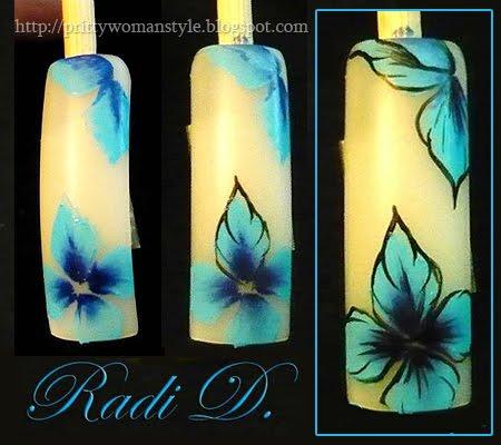 Декорация Сини цветя - стъпка 4,5,6