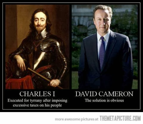 Charles I - executed for imposing taxes on the people!
