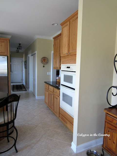 Kitchen Before with divider wall