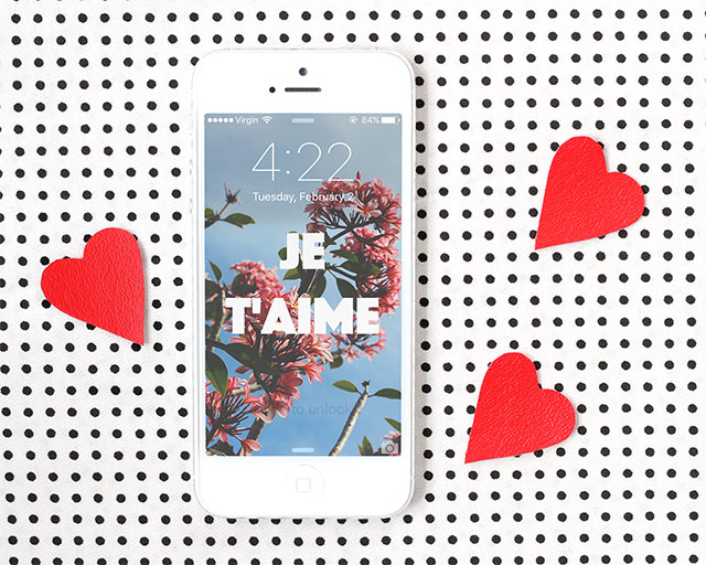 Valentine's Day iPhone Wallpapers | Je T'aime