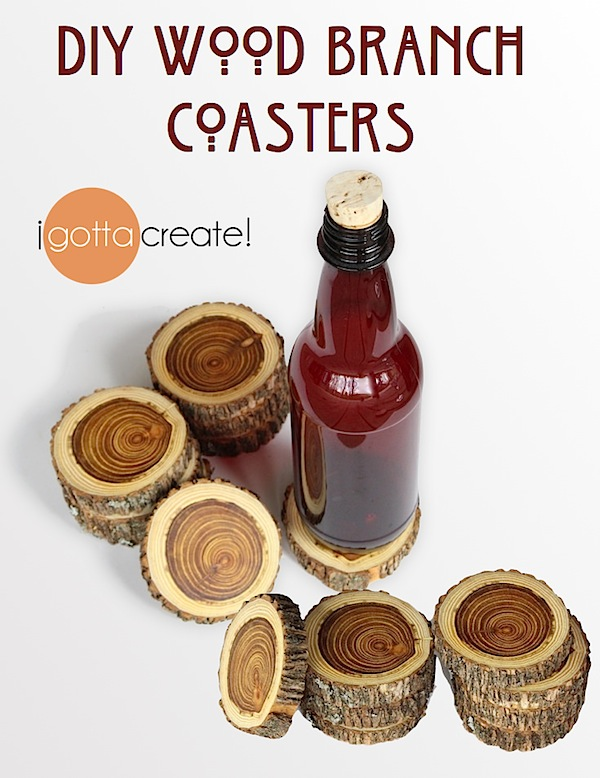 I Gotta Create DiY Wood Branch Coasters - Create coasters from photos