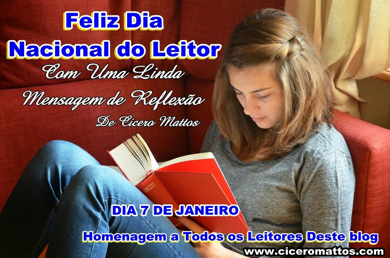 Homenagem a Todos os Leitores Deste blog - MENSAGEM DE REFLEXÃO
