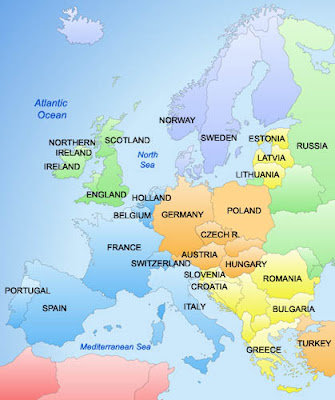 Europe Countries Map