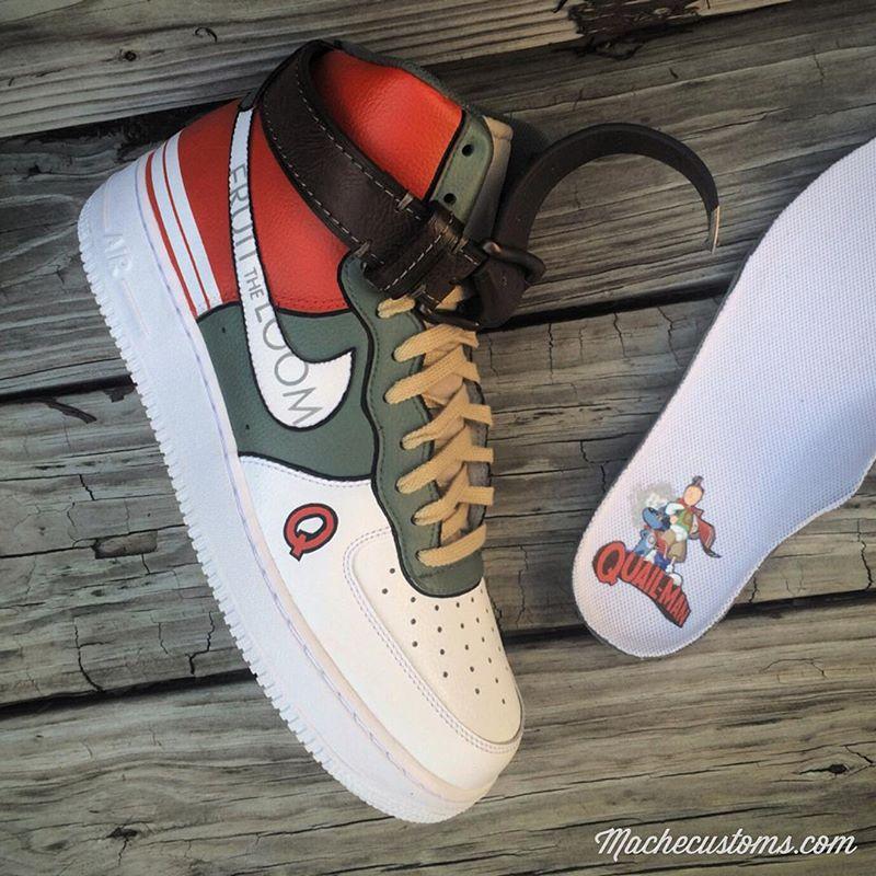EffortlesslyFly.com - Kicks x Clothes x Photos x FLY SH*T!: Custom Kicks: Nike Air Force 1 High ... Quailman Doug Funnie
