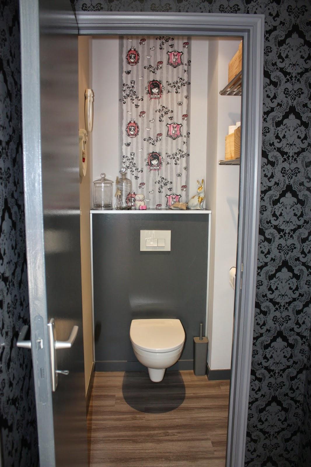 Papier Peint Toilettes Wc - Une déco des WC qui en jette ! Côté Maison