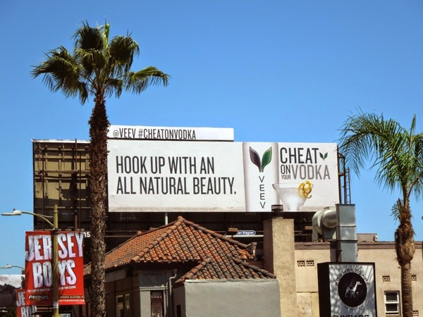 Cheat on Vodka Veev billboard