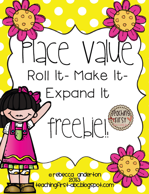 http://www.teacherspayteachers.com/Product/Place-Value-Freebie-Roll-it-Make-it-Expand-it-624142