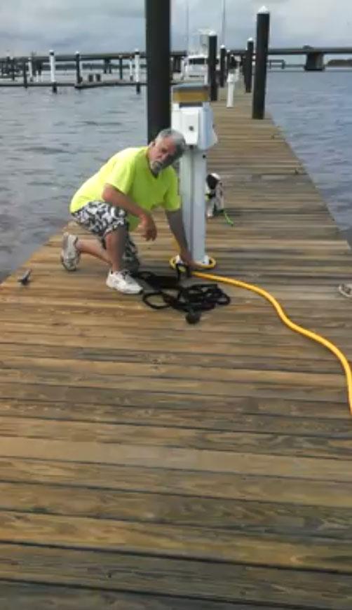 pocket hose on boat