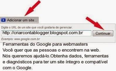 Ferramentas do Google para webmasters
