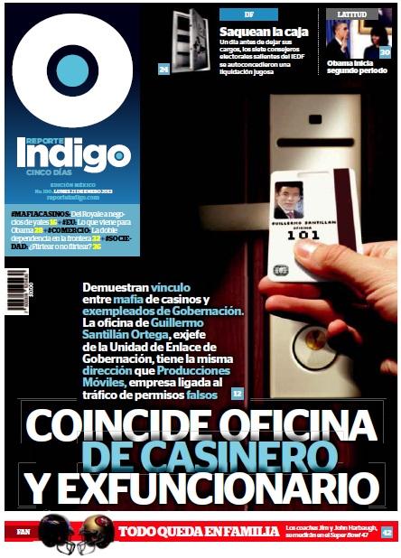 ... SME: Reporte Indigo: COINCIDE OFICINA DE CASINERO Y EXFUNCIONARIO