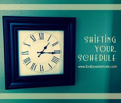 Shifting Your Schedule {Time Change, Time Zones, etc.}