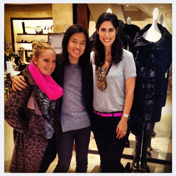 Lindsay Abeles (Neiman Marcus PR Co-Ordinator), Brandon Sun and me.
