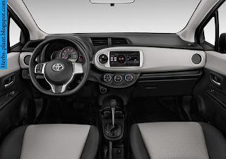 Toyota Yaris car 2013 dashboard - صور تابلوه سيارة تويوتا يارس 2013