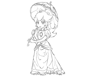 #20 Princess Peach Coloring Page