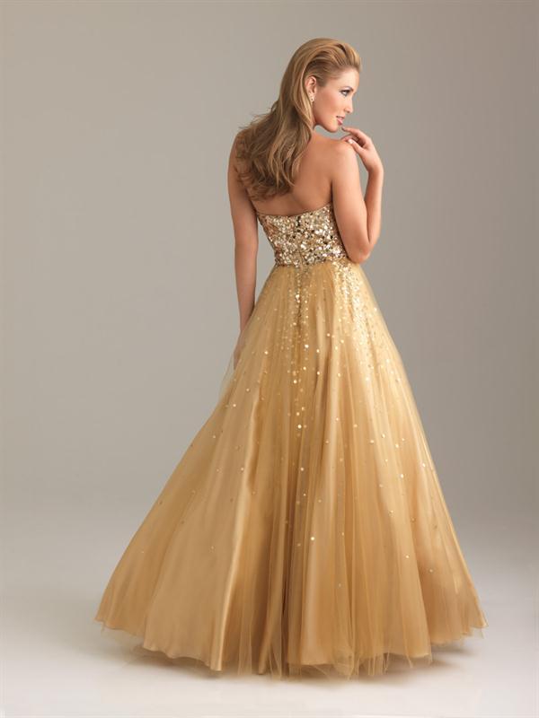 Vestidos de nina para fiesta color dorado