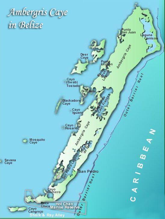 Blackadore Caye Map