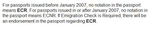 Non-ECR category