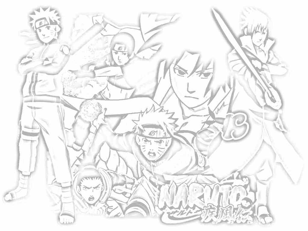 naruto shippuden coloring pictures