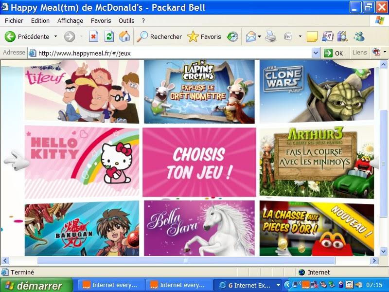 jeux gratuits pour enfants les jeux en ligne de mcdo sur. Black Bedroom Furniture Sets. Home Design Ideas