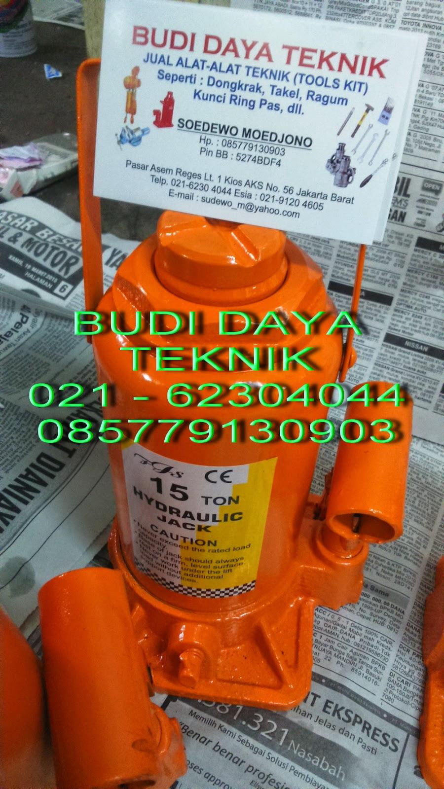 Jual Chain Block Takel Lever Budi Daya Teknik Tekiro Dongkrak Botol 20 Ton Kunci Ring Set 6 32mm Rp550000 2