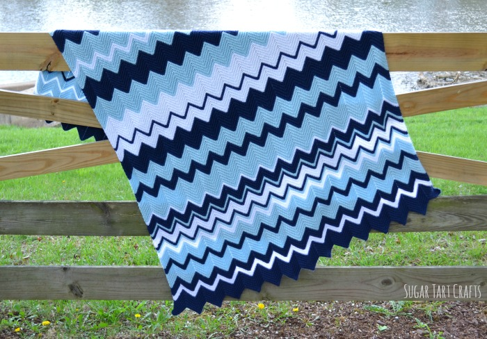 Free Pattern For Single Crochet Ripple Afghan : Sugar Tart Crafts: Corbins Ripple Crochet Baby Blanket