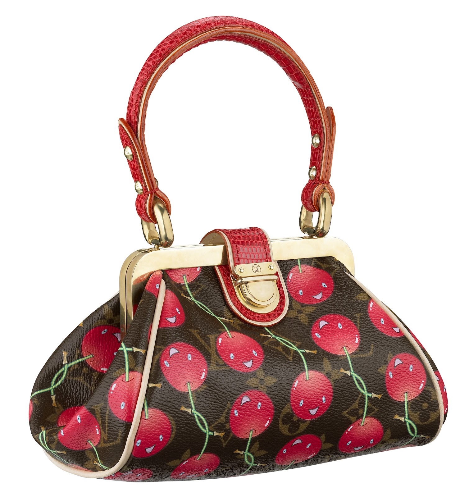Bag In Cherries Monogram Canvas S 2005 Louis Vuitton Collection