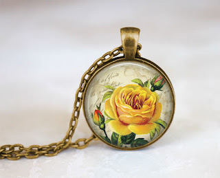 Digital Photo template for antique gold pendant