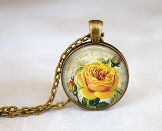 Digital Photo template for antique gold pendant