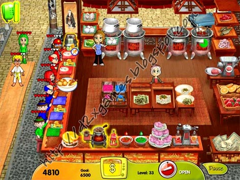 Free Download Games - Cooking Dash 2 Dinner Town Studios