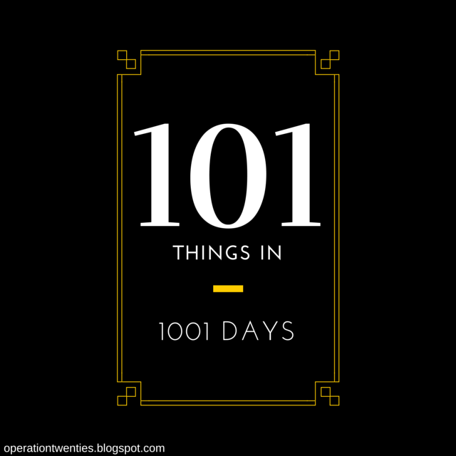 101 in 1001 Days - www.operationtwenties.com