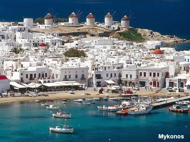 Mykonos - The Top Ten Most Romantic Honeymoon Destinations in Hellas (Greece) and in Hellenic (Greek) Islands