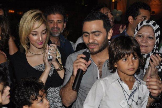 صور تامر حسني وبسمة بوسيل زوجته اخر اجدد احدث صورة صور فيديو تامر حسني ومراته بسمه بوسيل المغربية 2012 2013