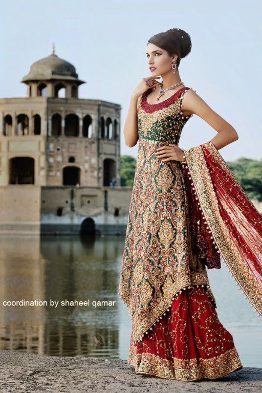 Green Pakistani Bridal Dresses