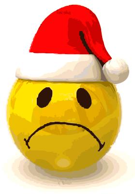 Sad kid christmas