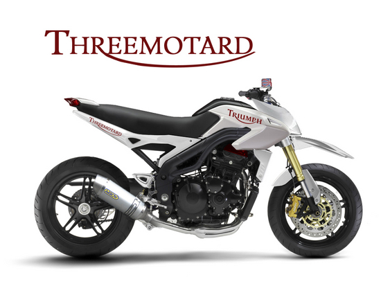 Triumph Threemotard - Concept Motorcycles  [ click images to enlarge - http://hydro-carbons.blogspot.com/ ]
