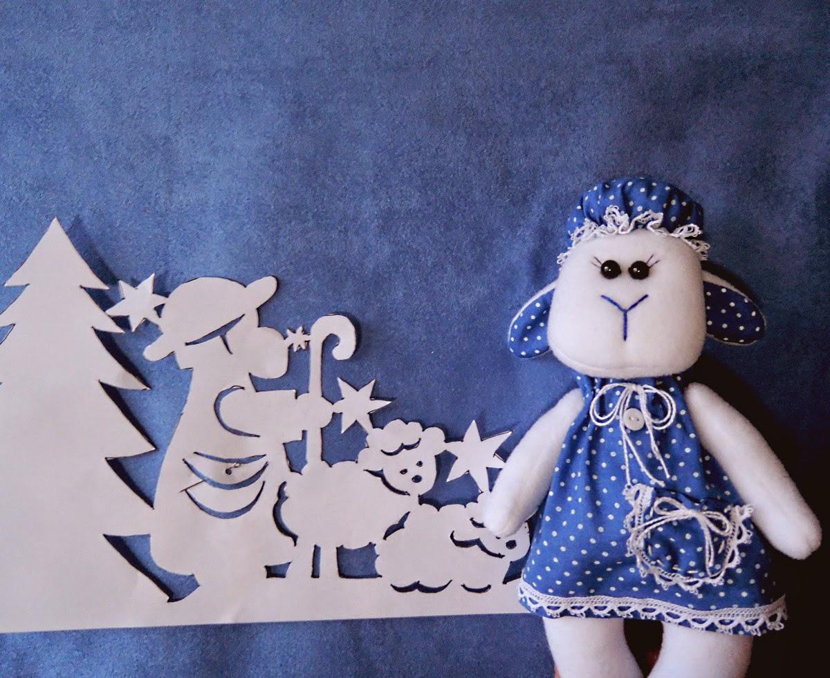 синяя овечка - символ года