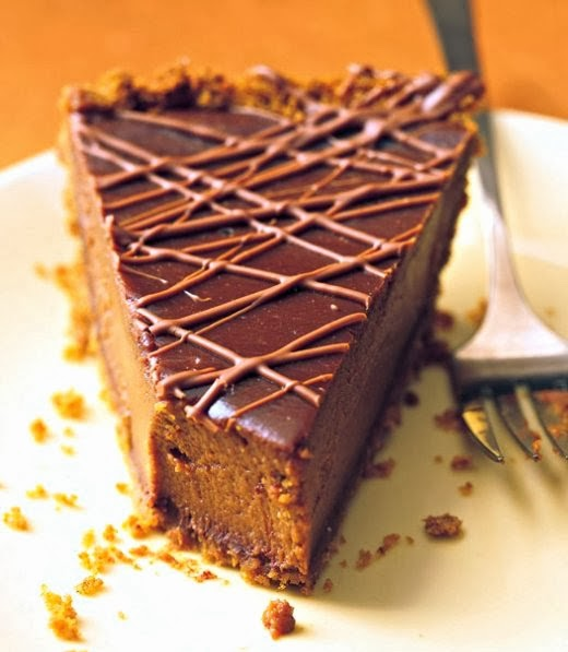 Triple-Chocolate Pumpkin Pie - Yummi Recipes