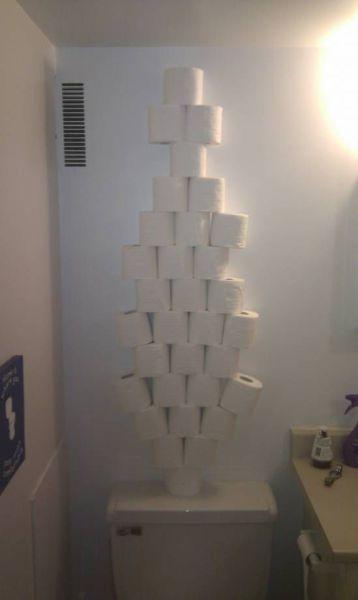 Empilhamento de papel higiênico