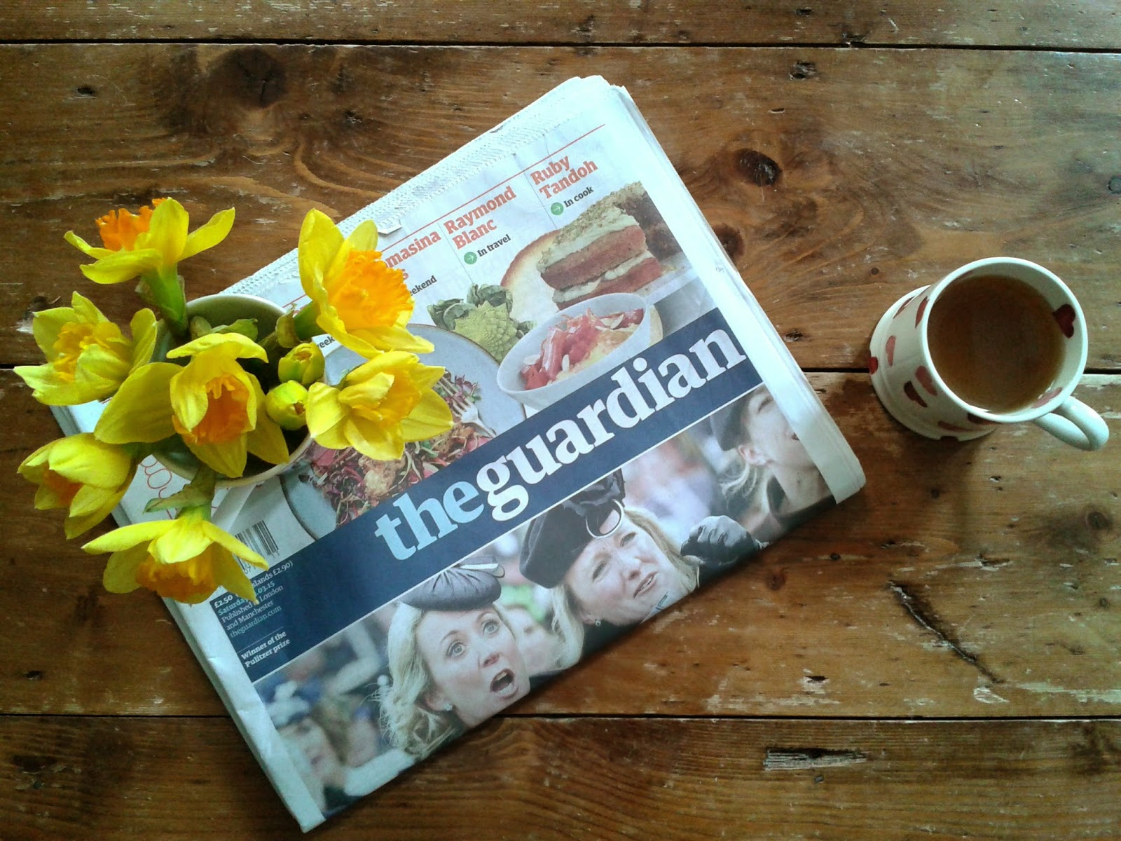 Project 365 day 73 - Saturday paper and tea // 76sunflowers