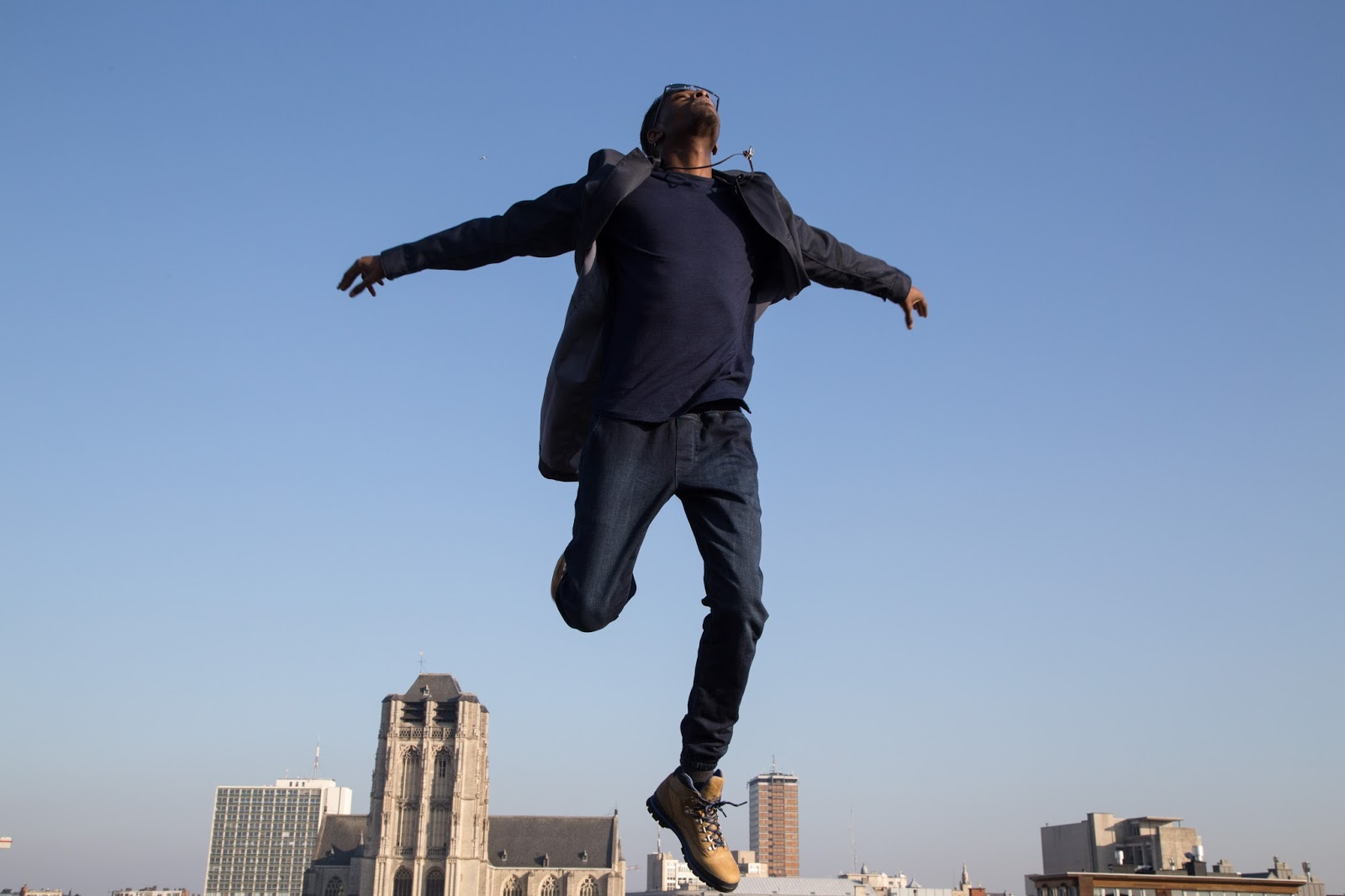 JONTHEGOLD skyline blue g-star raw coat wefashion jogger  timberland boots salvatore ferragamo sunglasses bohemian vixen accessories