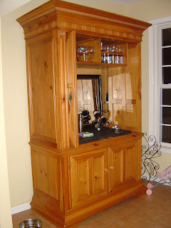 Art For You CONVERTED AN ENTERTAINMENT CENTER INTO A BAR