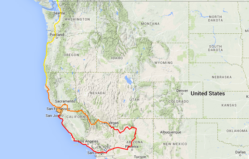 This Route Up Through All The Amazing Scenery Sounded Amazing But Sophie Really Wanted To See Yosemite And Death Valley And We Both Loved The Idea Of Going