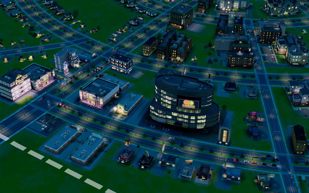 Маленькое казино - начало большой империи с азарнтыми играми в SimCity