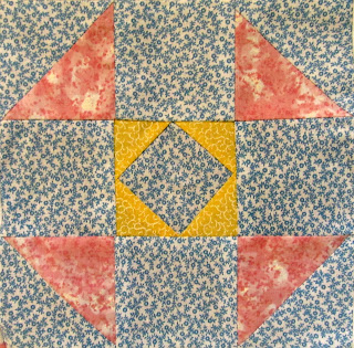 how to make a simple quilt block with triangles
